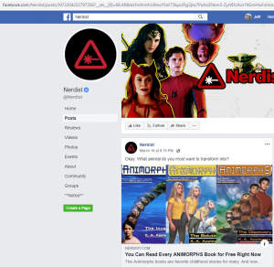 Another Nerdist Facebook post to article